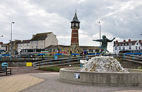 Jolly Fisherman and Skegness Clock Tower